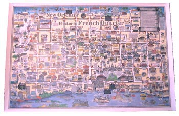photograph about French Quarter Map Printable identified as Outdated Opera Property, Bourbon Highway Evening Club Bar - Products and solutions